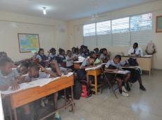 Haiti škola sv Lujzy Cité Soleil 2018, fotka 22